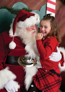 santa-and-laaughing-girl