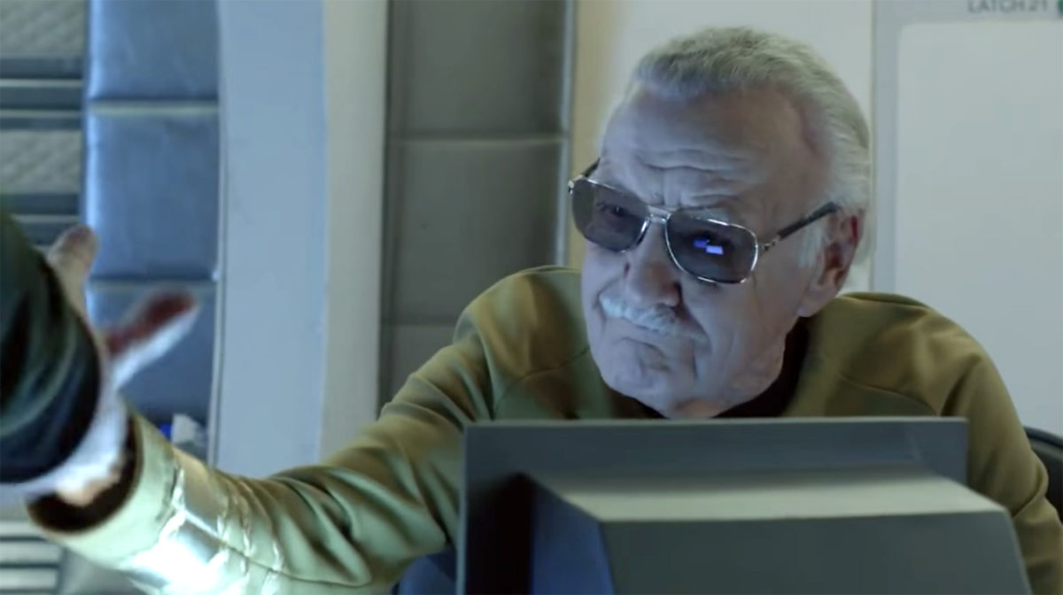 Clips of STAN LEE in two STAR TREK FAN FILMS!