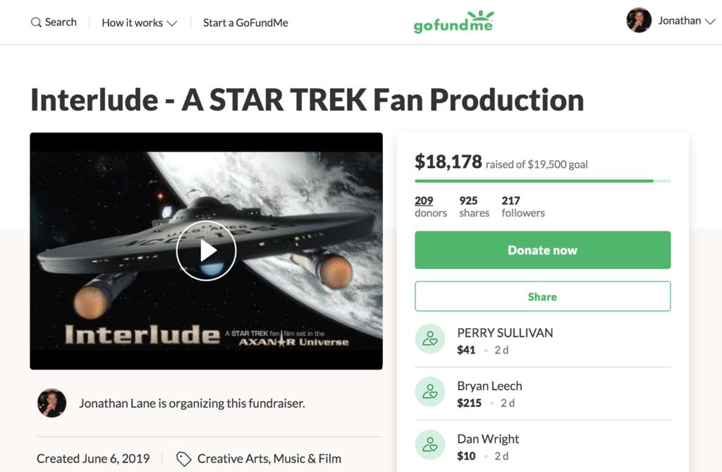 INTERLUDE GoFundMe tops $18,000…nearing the goal! – Fan Film