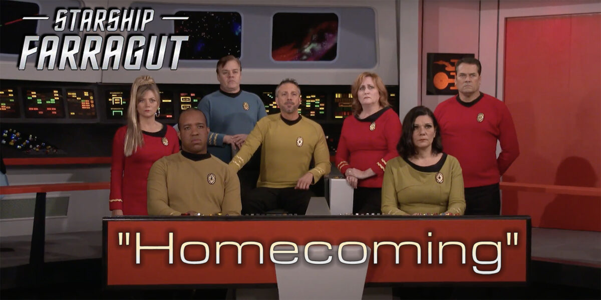 """STARSHIP FARRAGUT's finale """"HOMECOMING"""" is coming along… (interview with STEVE SEMMEL)"""